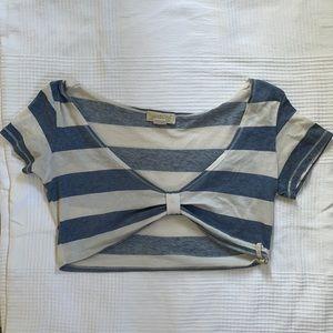 BILLABONG Crop short sleeve tee, stripped, sheer